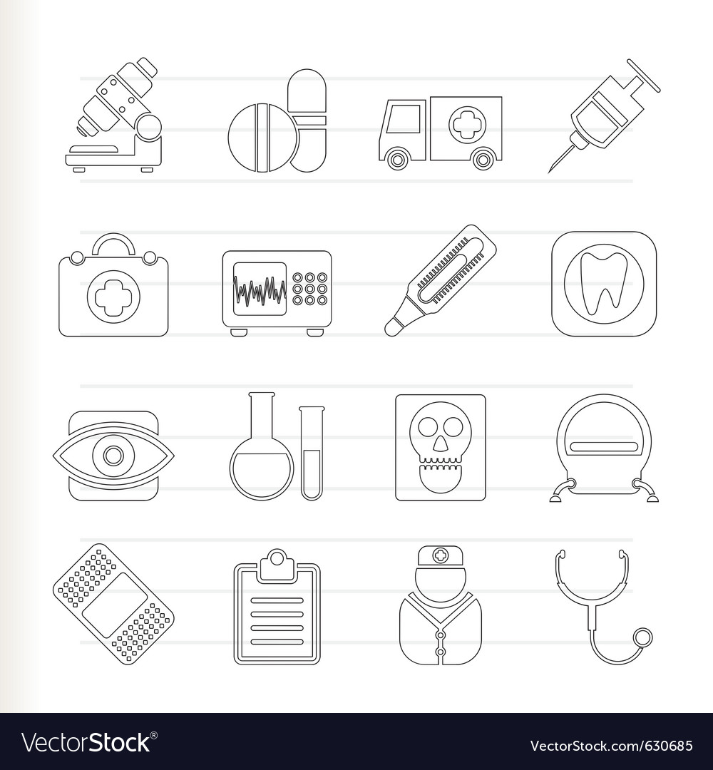 Medical and health care icons vector | Price: 1 Credit (USD $1)
