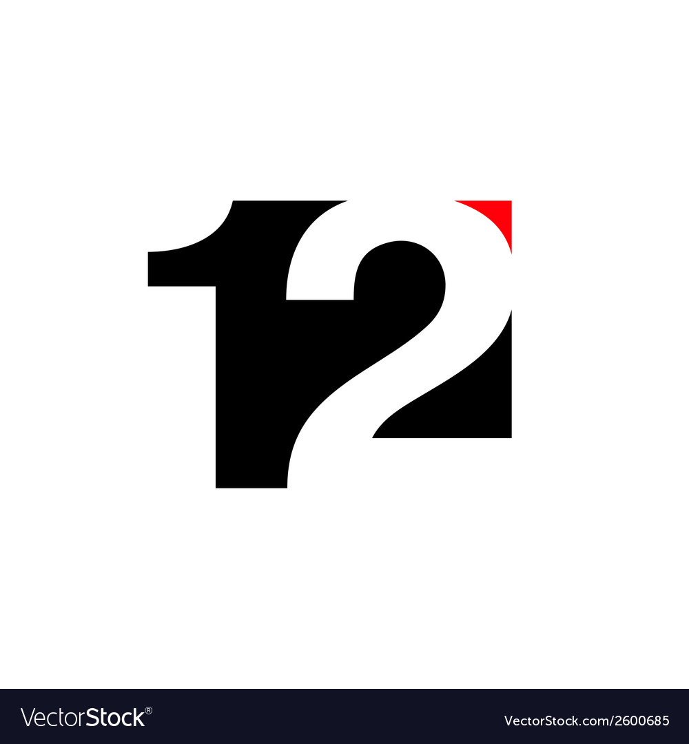 Number 12 abstract sign vector | Price: 1 Credit (USD $1)
