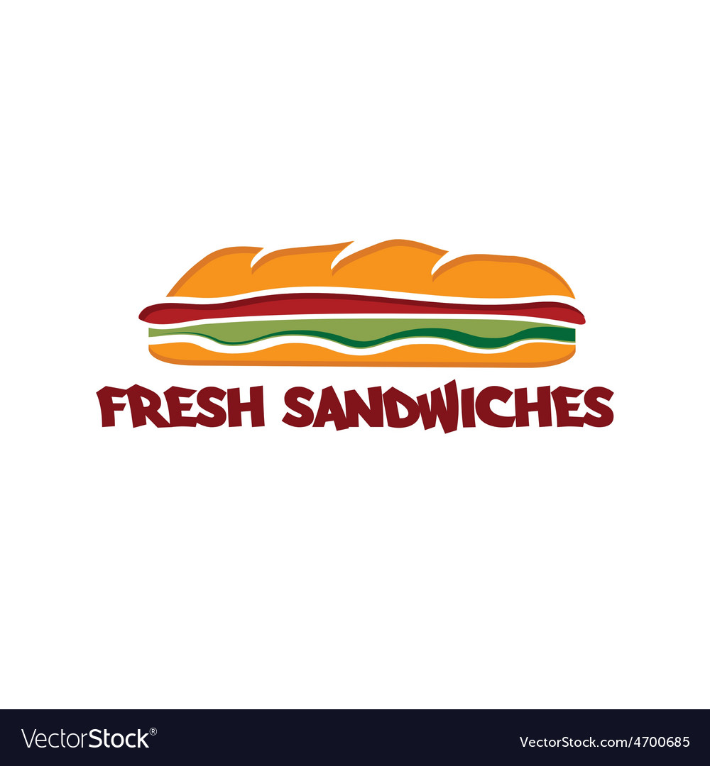 Sandwich design template vector | Price: 1 Credit (USD $1)