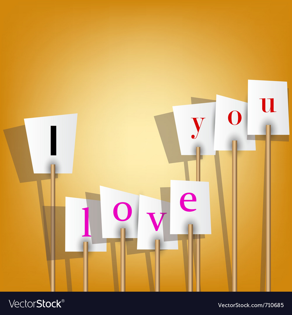 White posters with inscription - i love you vector | Price: 1 Credit (USD $1)