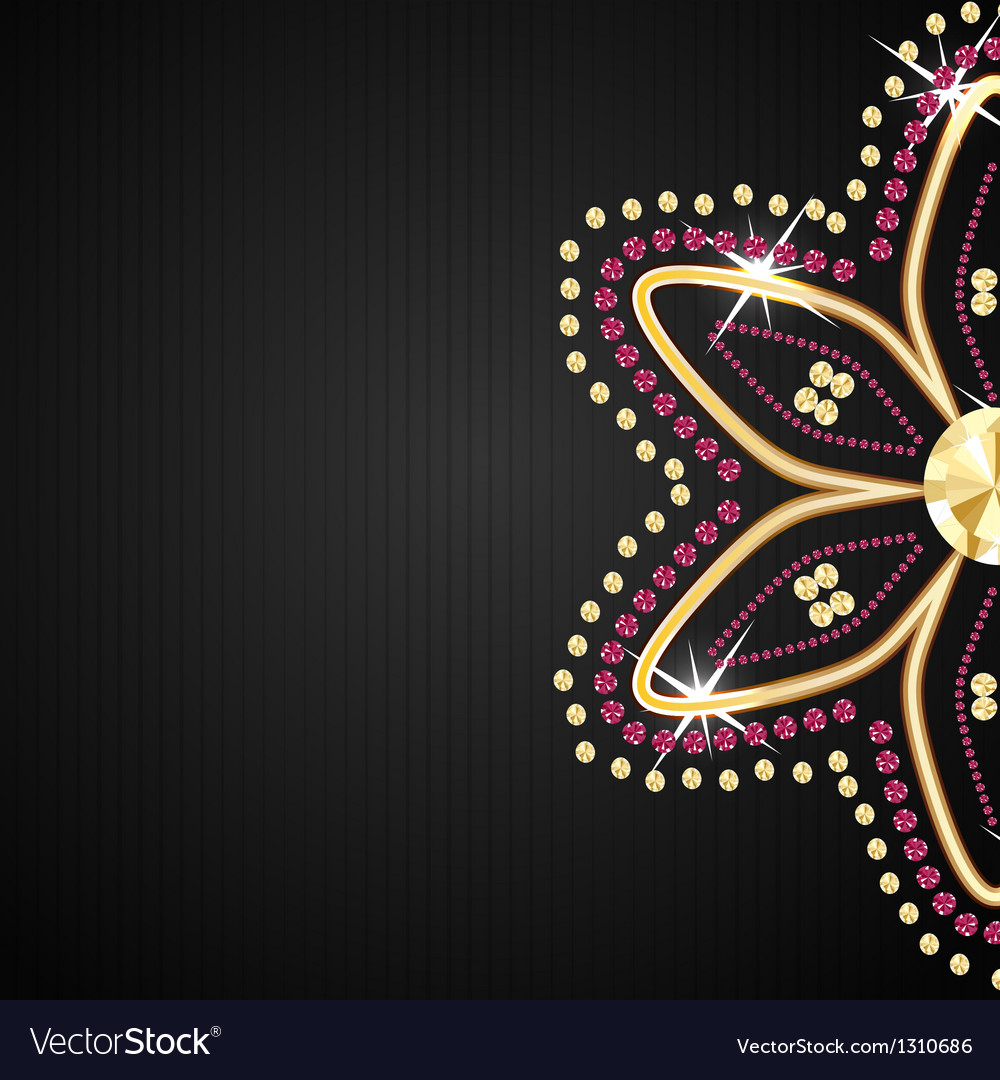 Abstract beautiful black diamond background vector | Price: 1 Credit (USD $1)