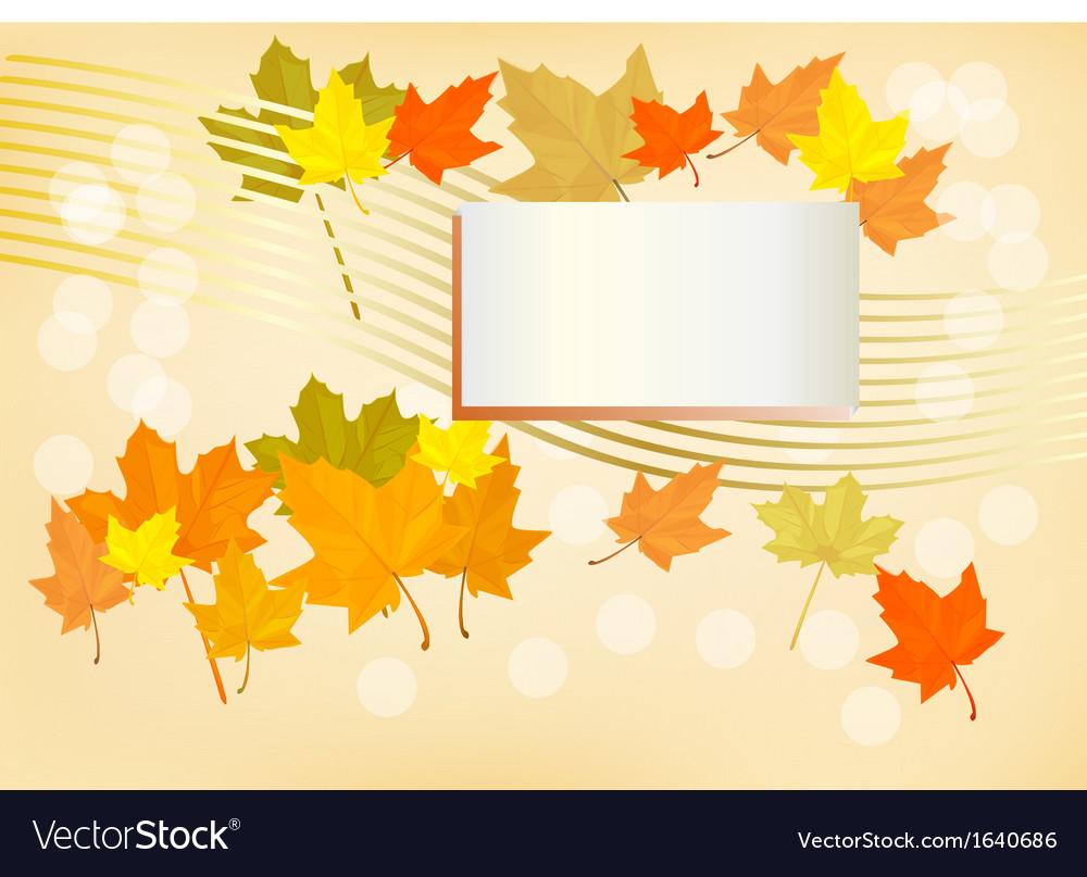 Autumn holiday postcard vector | Price: 1 Credit (USD $1)