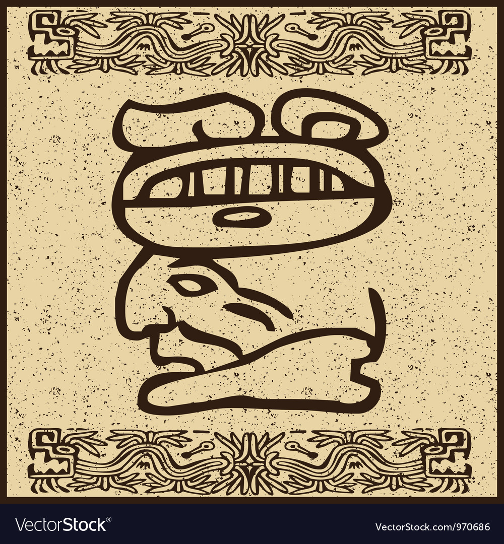 Aztec motif head background vector | Price: 1 Credit (USD $1)
