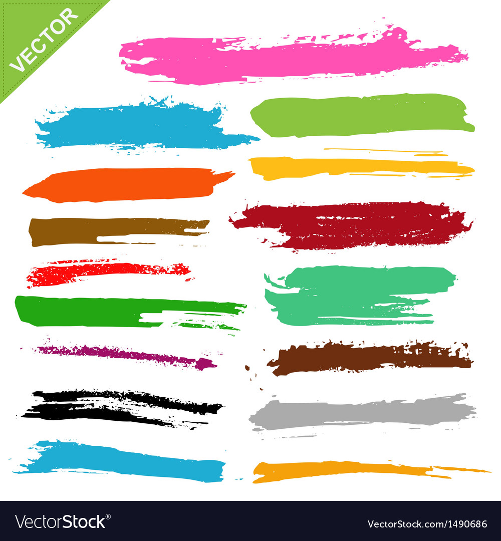 Brush strokes vector | Price: 1 Credit (USD $1)