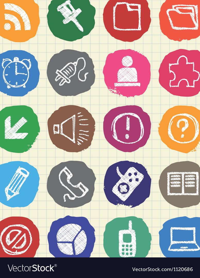 Doodle internet web icons set vector | Price: 1 Credit (USD $1)
