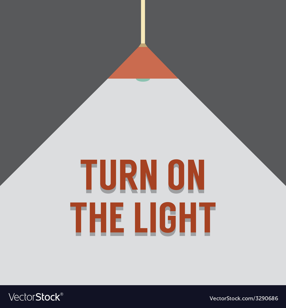 Flat design turn on the light vector | Price: 1 Credit (USD $1)