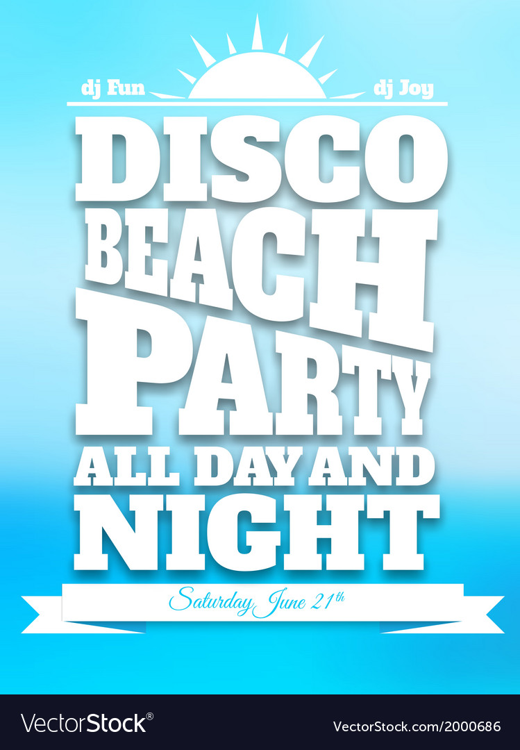 Flyer on summer dance party vector | Price: 1 Credit (USD $1)