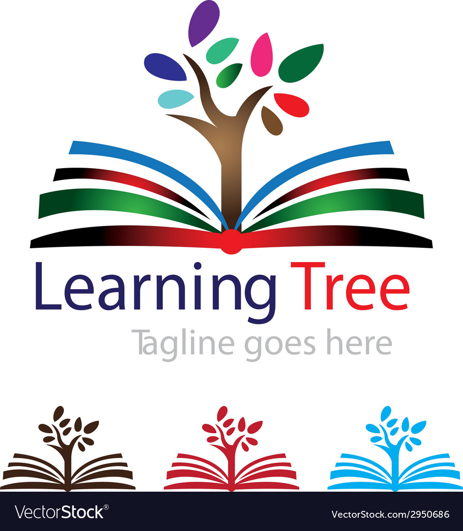 Learning book with tree vector | Price: 1 Credit (USD $1)