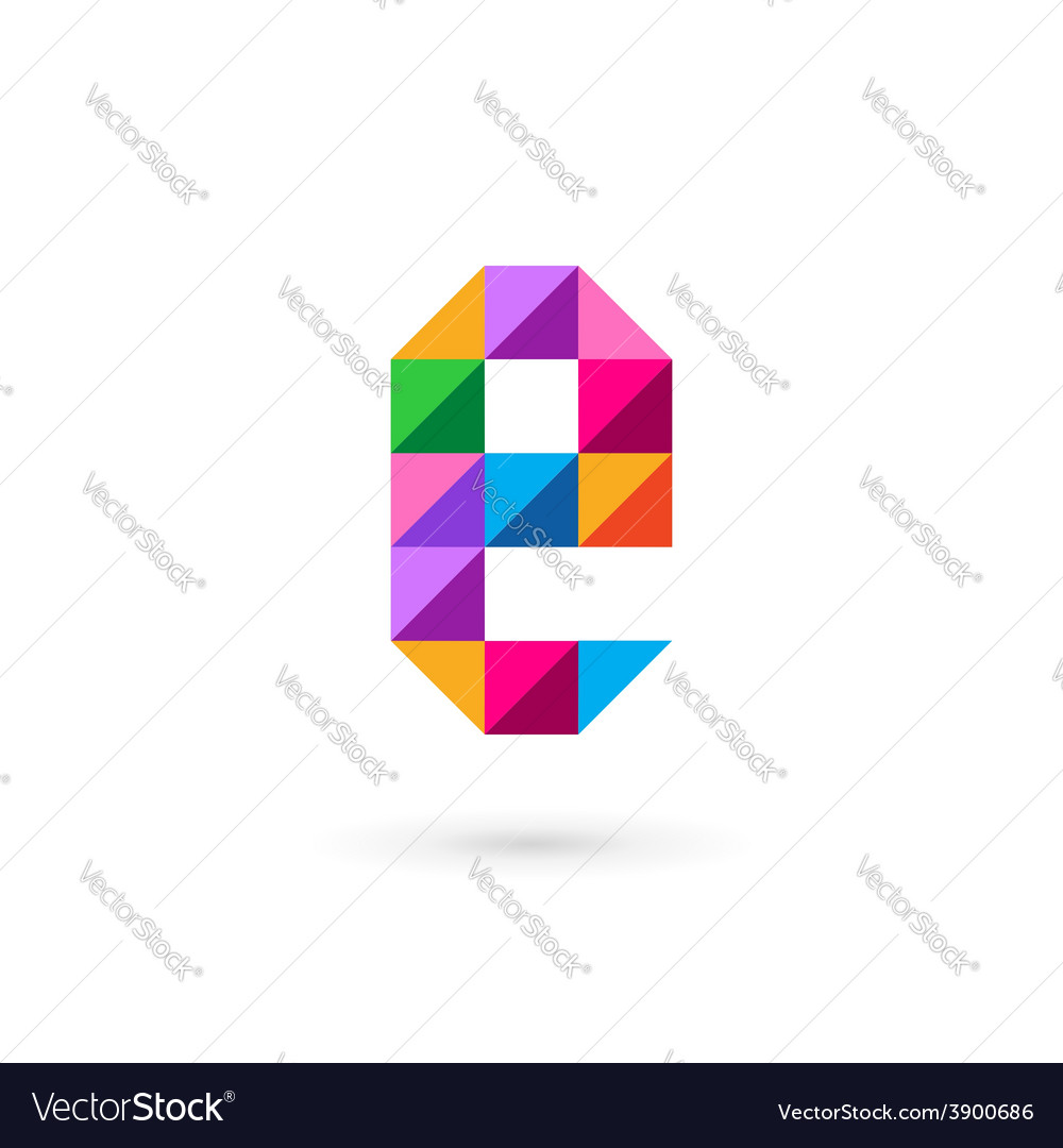 Letter e mosaic logo icon design template elements vector | Price: 1 Credit (USD $1)