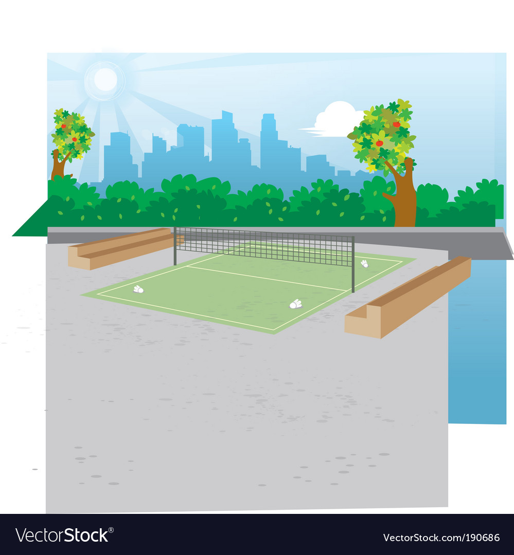 Outdoor badminton vector | Price: 1 Credit (USD $1)