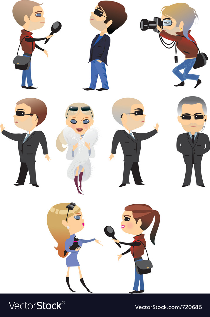 Profession office characters vector | Price: 3 Credit (USD $3)