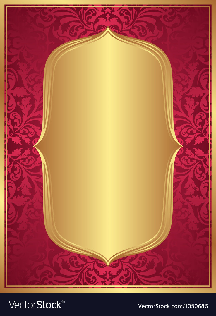 Red gold background vector | Price: 1 Credit (USD $1)
