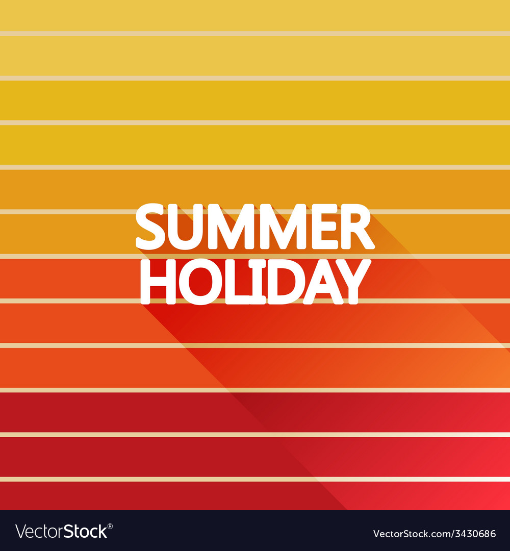 Summer holiday vintage on light sun color vector | Price: 1 Credit (USD $1)