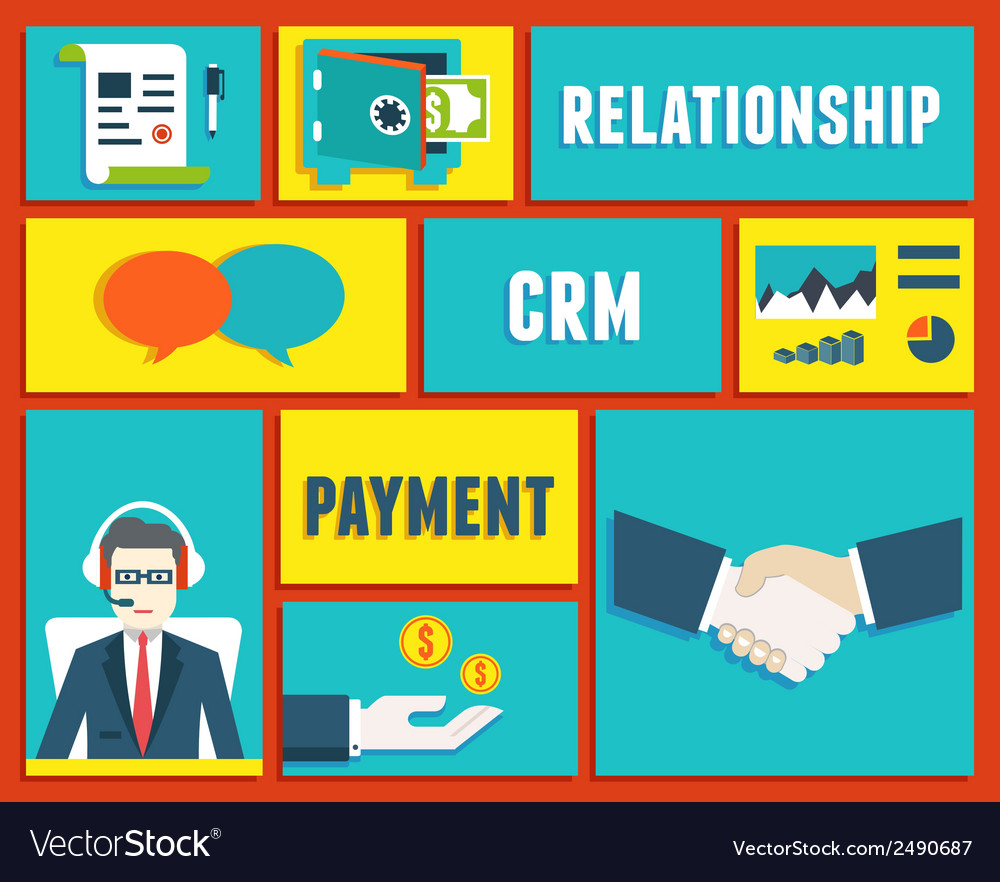 Customer relationship management service vector | Price: 1 Credit (USD $1)