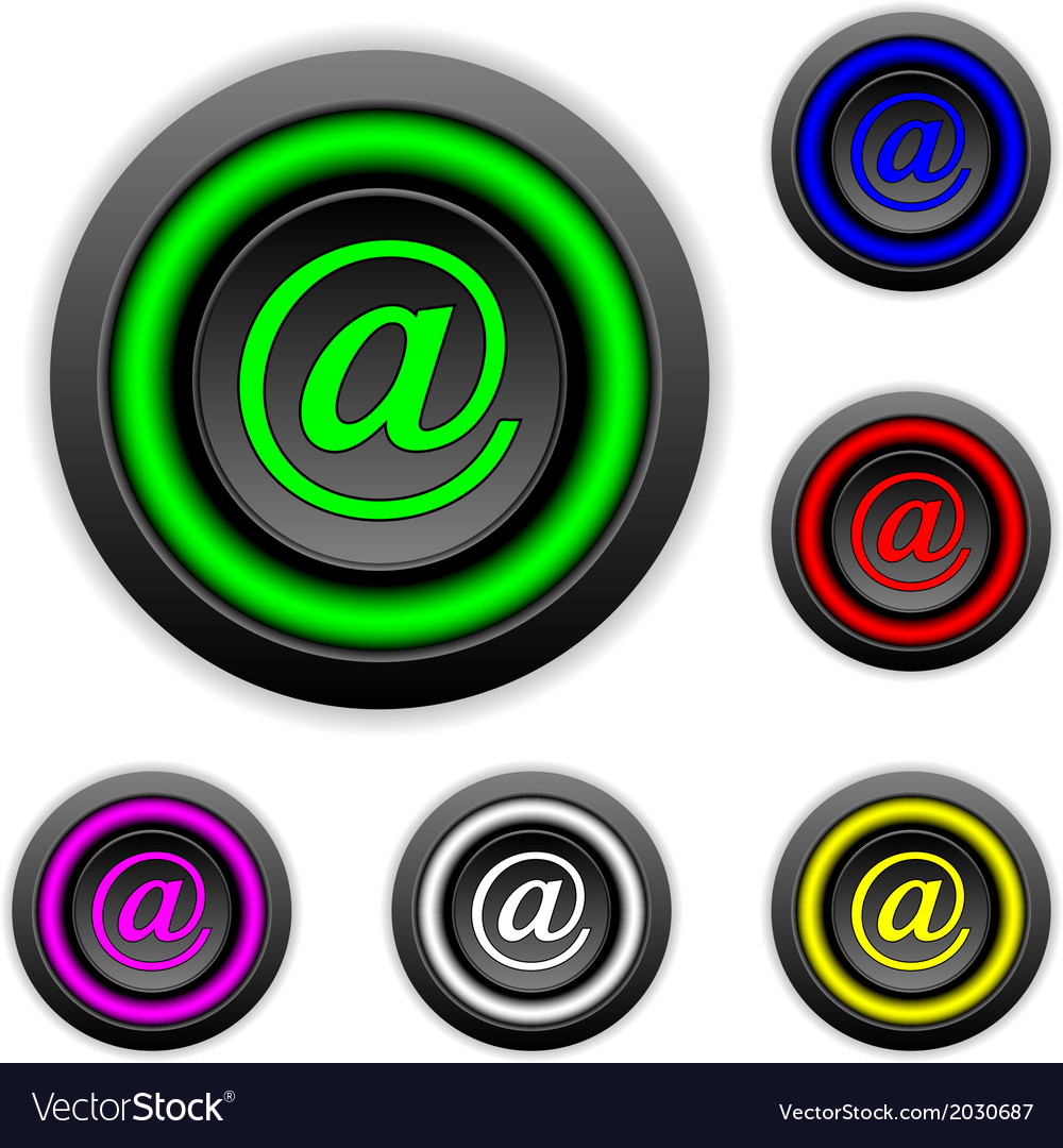 Email buttons set vector | Price: 1 Credit (USD $1)