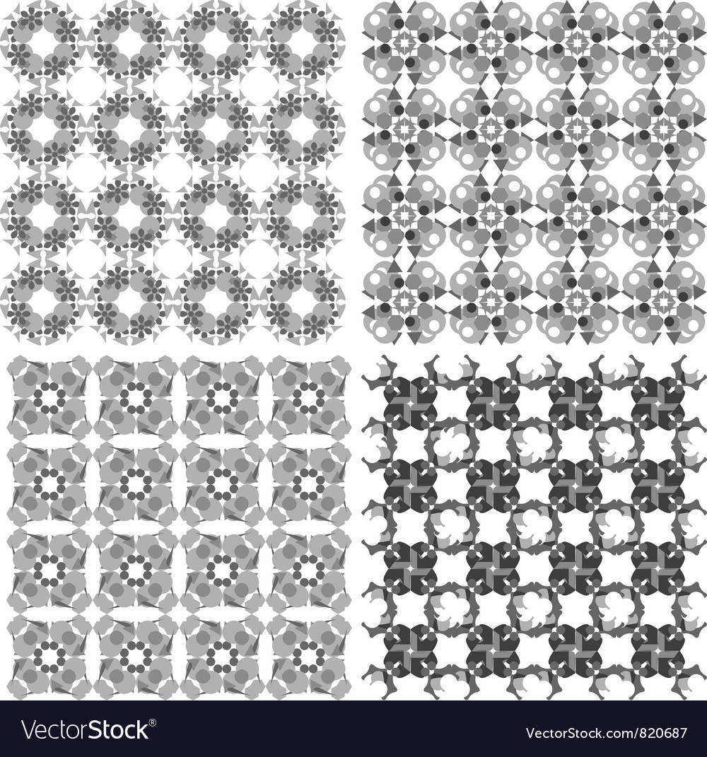 Geometric seamless patterns set arabic backgrounds vector | Price: 1 Credit (USD $1)