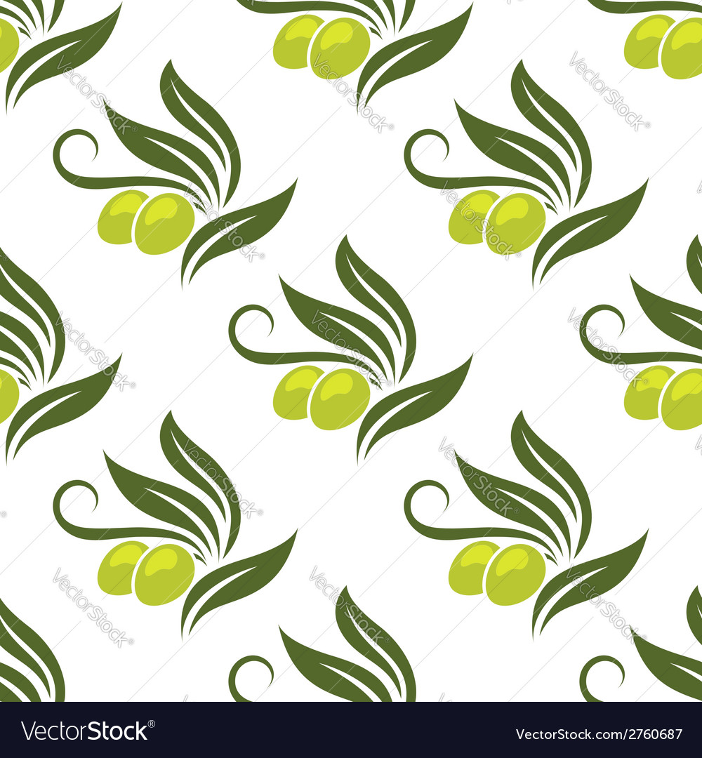 Olives seamless pattern vector | Price: 1 Credit (USD $1)