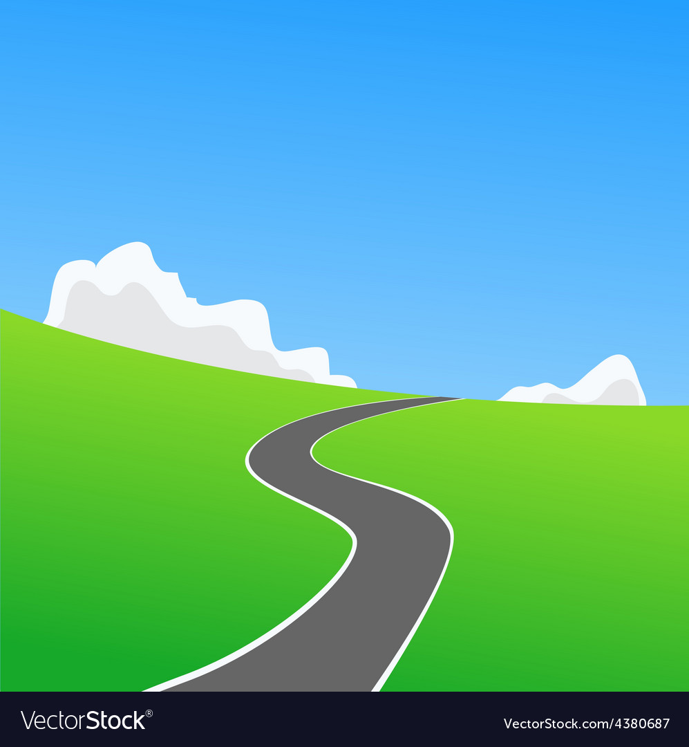 Picture of empty countryside road vector | Price: 1 Credit (USD $1)