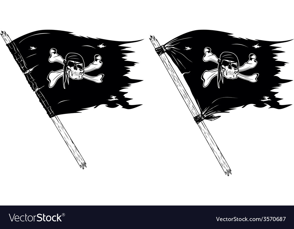Pirate flags vector | Price: 1 Credit (USD $1)