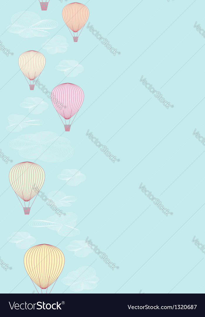Seamless side border made of balloons vector | Price: 1 Credit (USD $1)