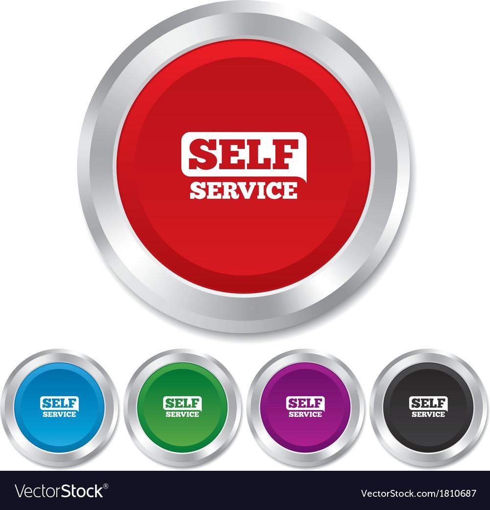 Self service sign icon maintenance button vector | Price: 1 Credit (USD $1)