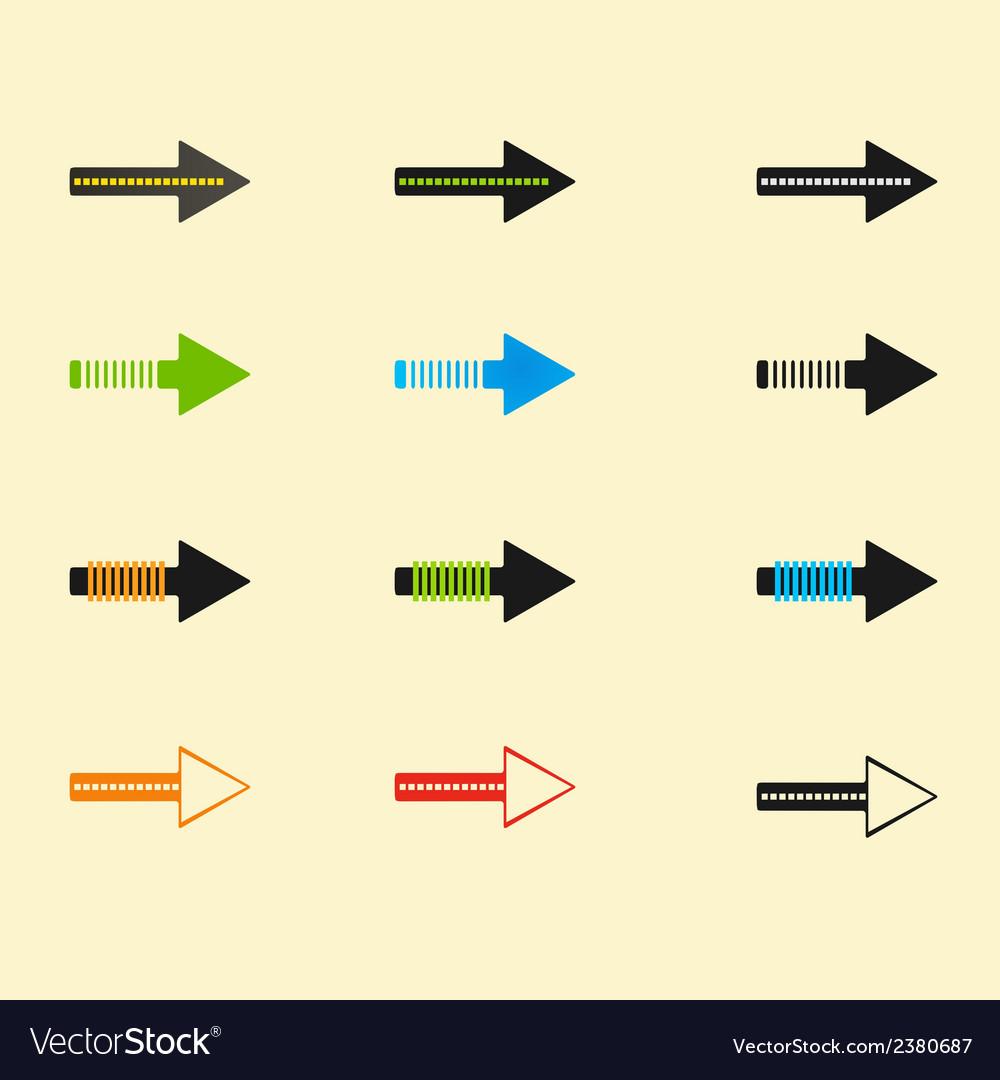 Set of arrows eps10 vector | Price: 1 Credit (USD $1)