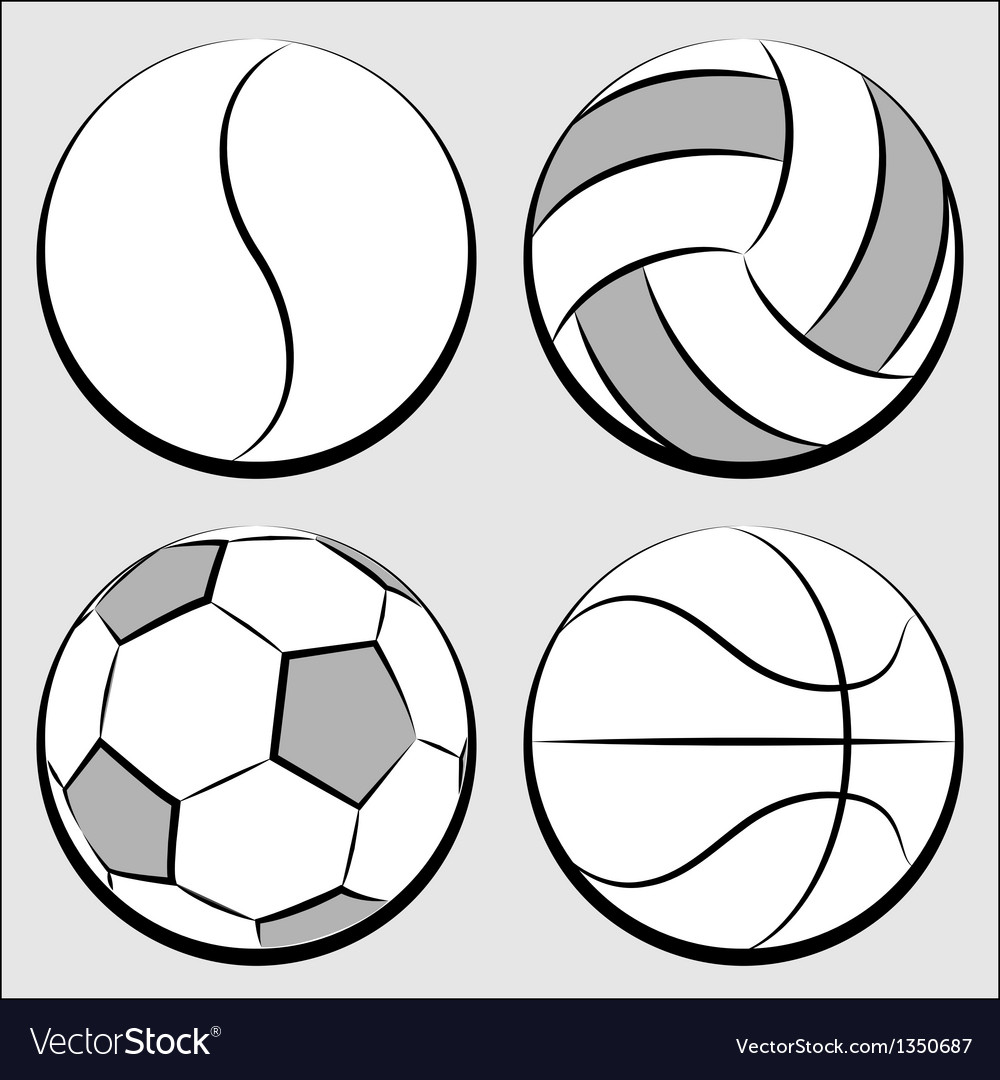 Sport balls set vector | Price: 1 Credit (USD $1)