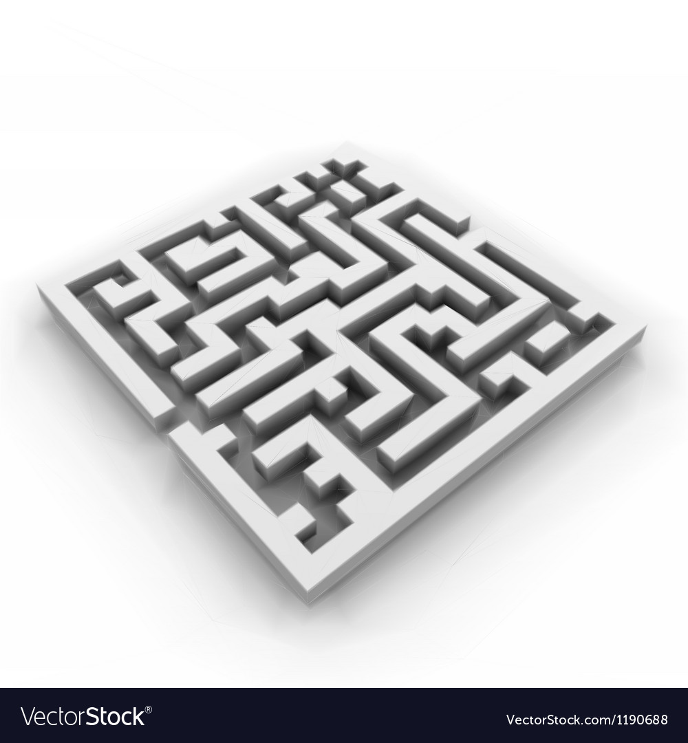 A maze labyrinth vector | Price: 1 Credit (USD $1)
