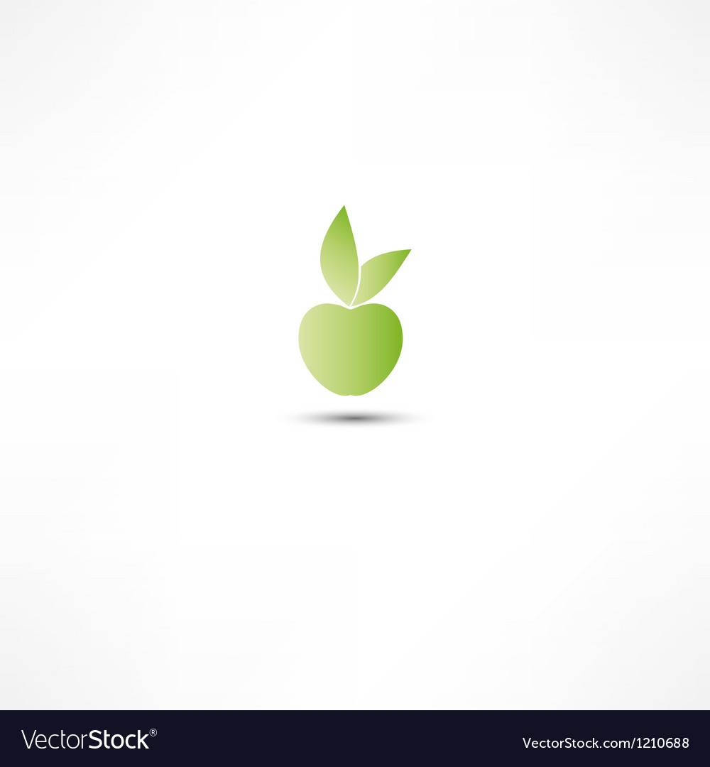 Apple icon vector | Price: 1 Credit (USD $1)