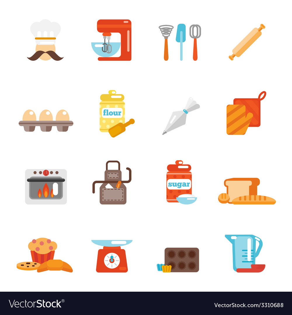 Bakery icon flat vector | Price: 1 Credit (USD $1)