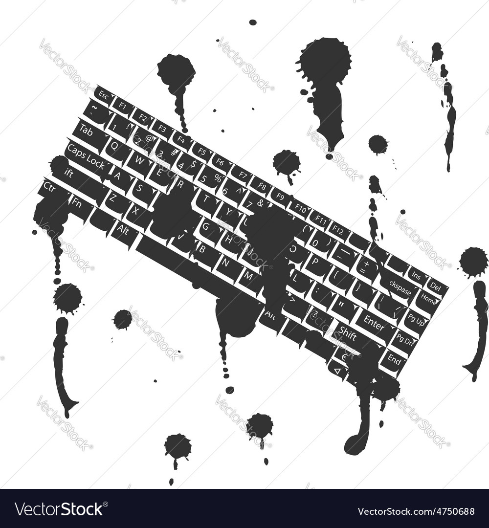 Black and white concept keyboard background vector | Price: 1 Credit (USD $1)