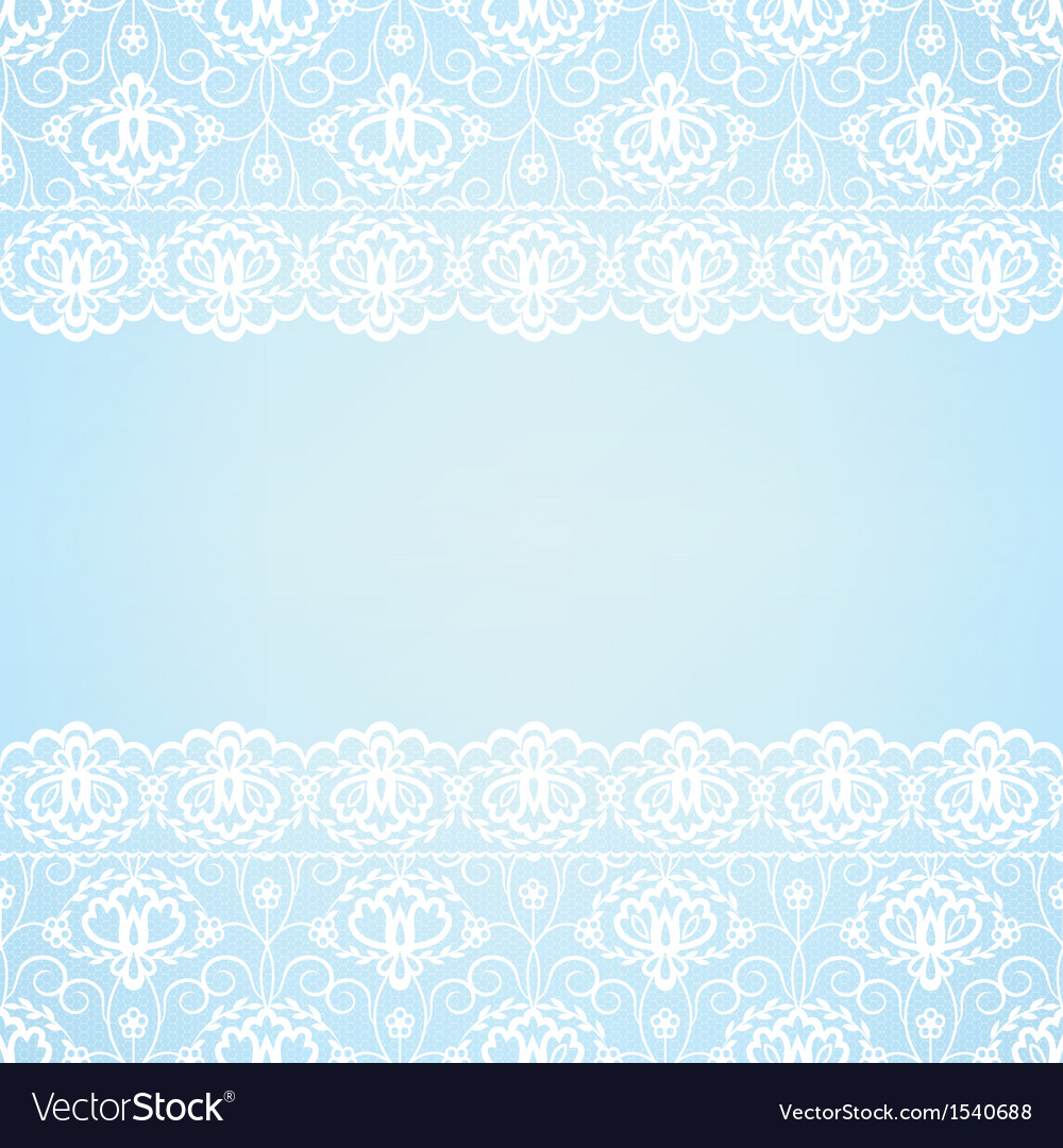 Blue background with lace border vector | Price: 1 Credit (USD $1)