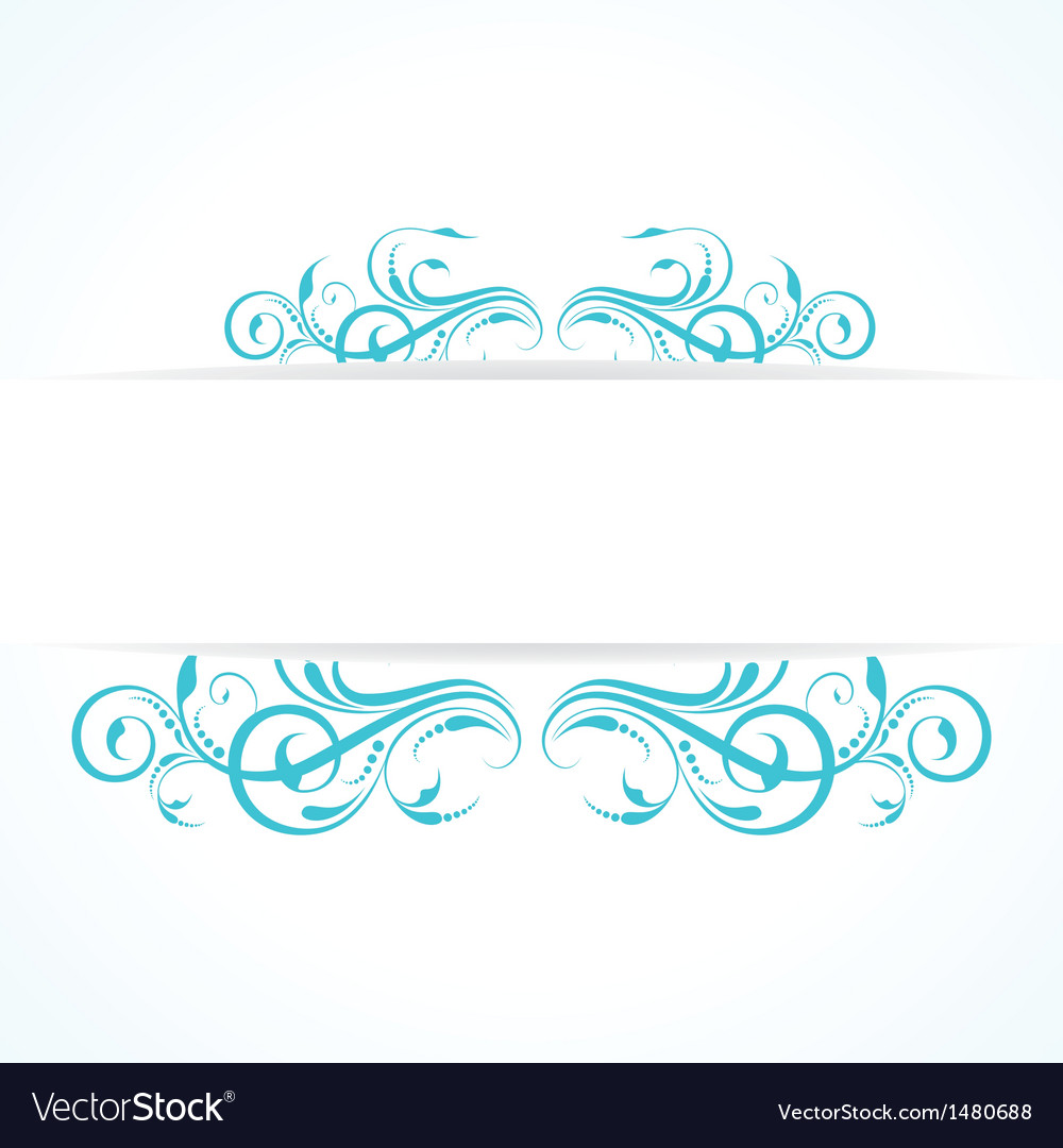 Creative floral design vintage vector | Price: 1 Credit (USD $1)