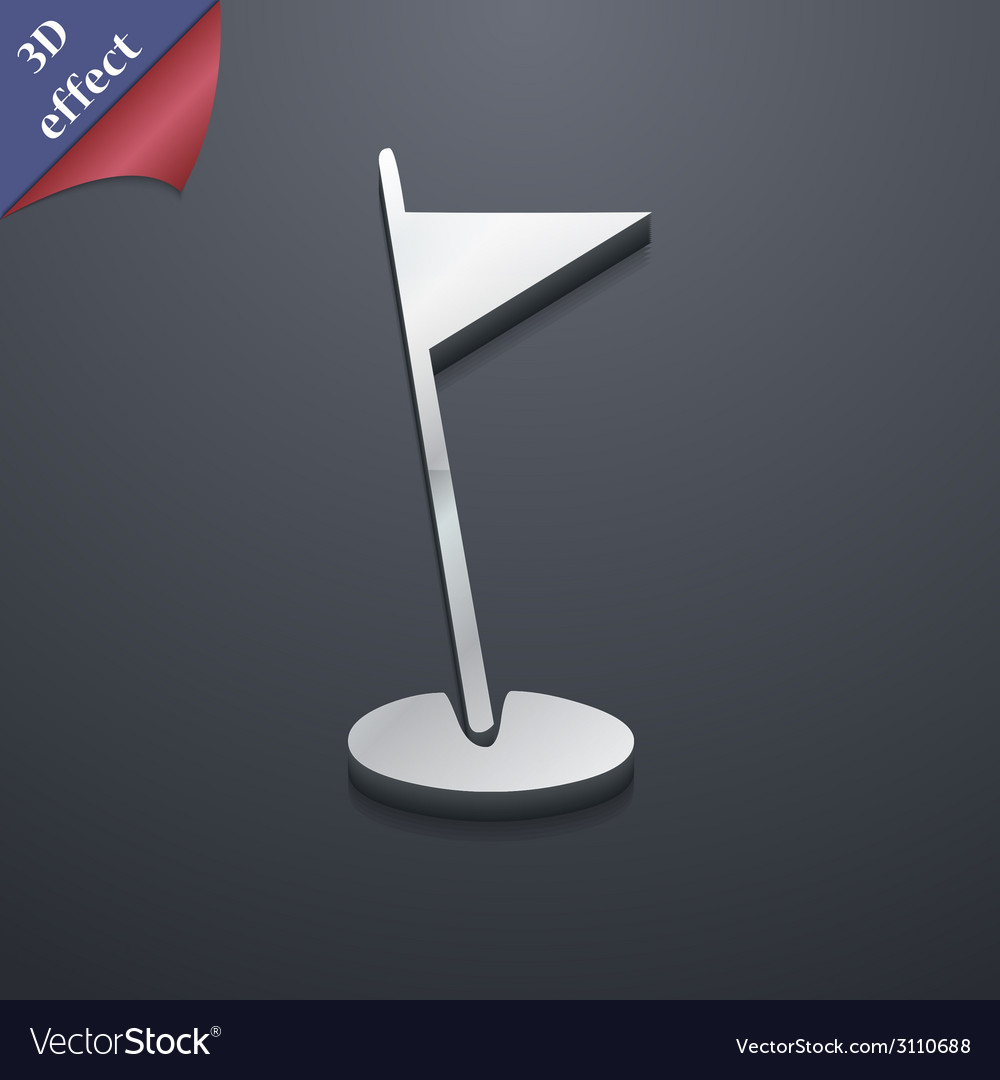 Flag hole icon symbol 3d style trendy modern vector   Price: 1 Credit (USD $1)