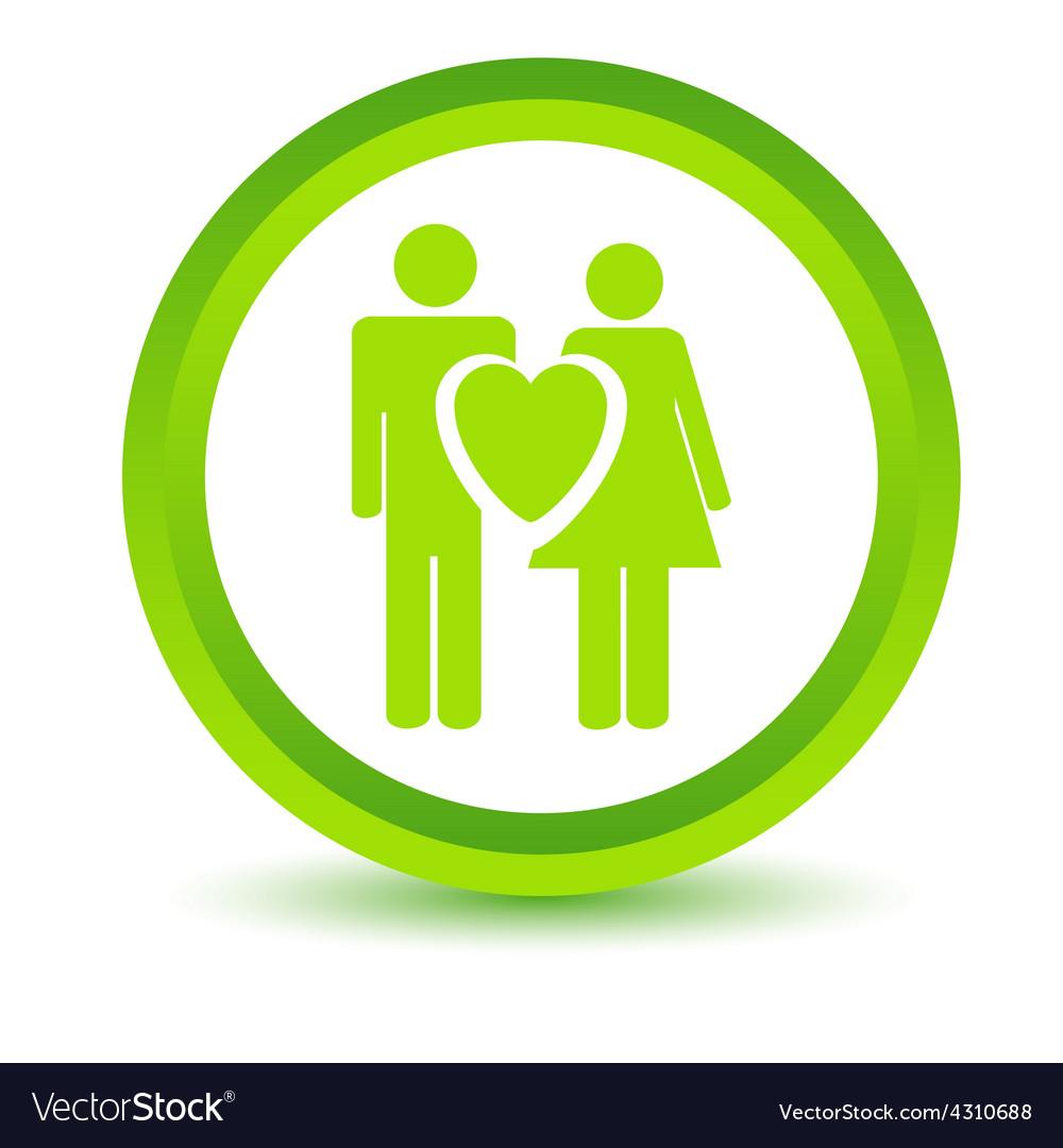 Green love icon vector | Price: 1 Credit (USD $1)