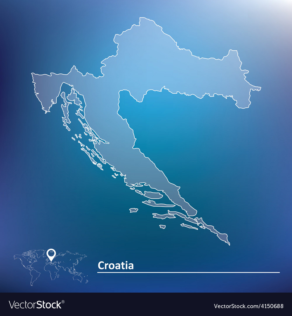 Map of croatia vector | Price: 1 Credit (USD $1)