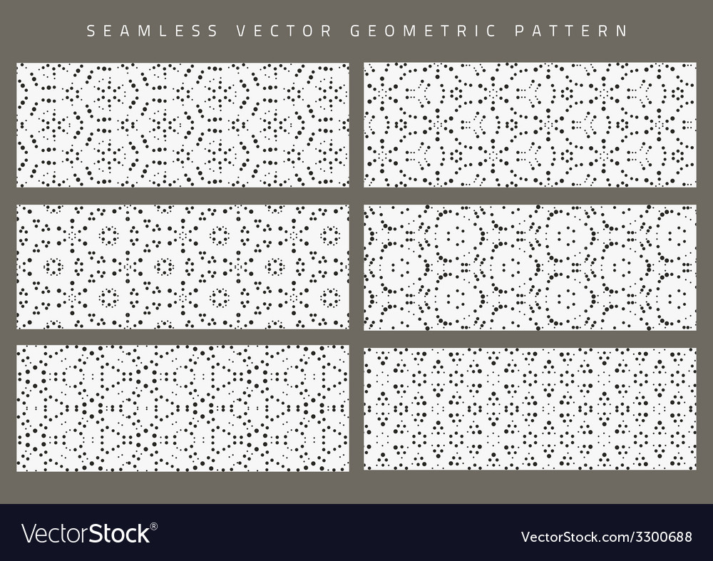 Set of eight seamless patterns vector | Price: 1 Credit (USD $1)