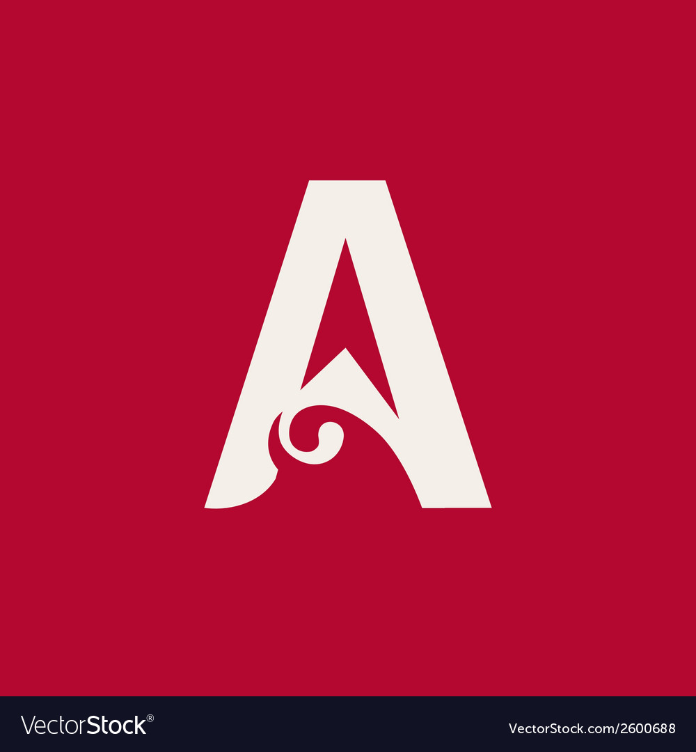 Sign the letter a vector | Price: 1 Credit (USD $1)