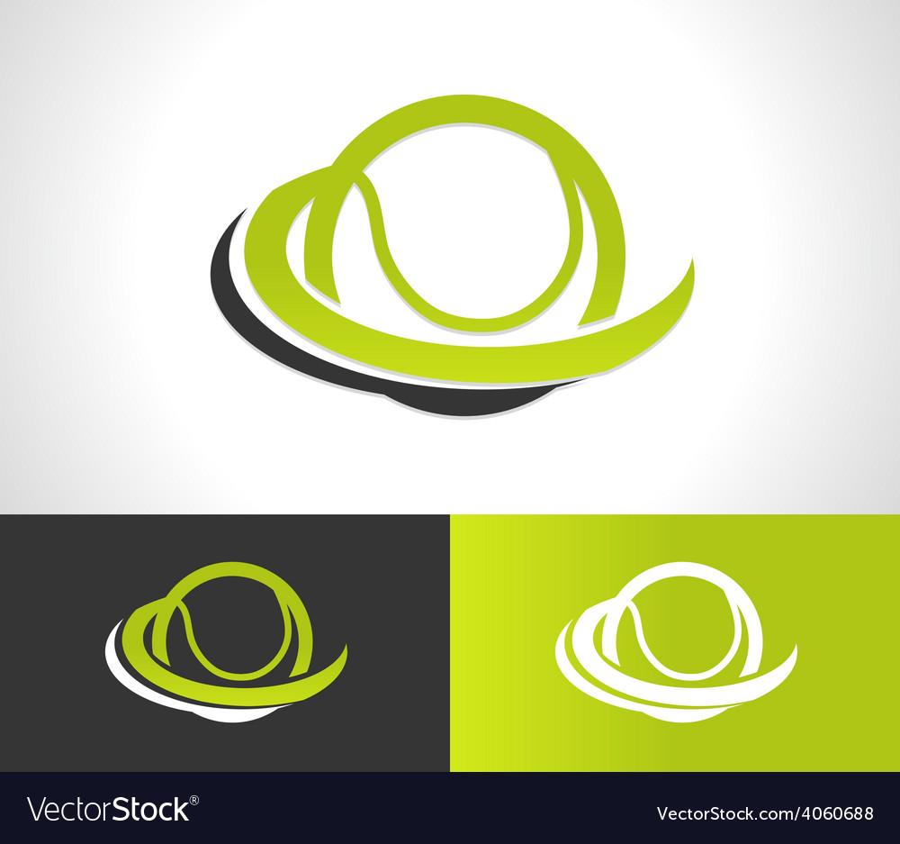 Swoosh tennis ball logo icon vector | Price: 1 Credit (USD $1)