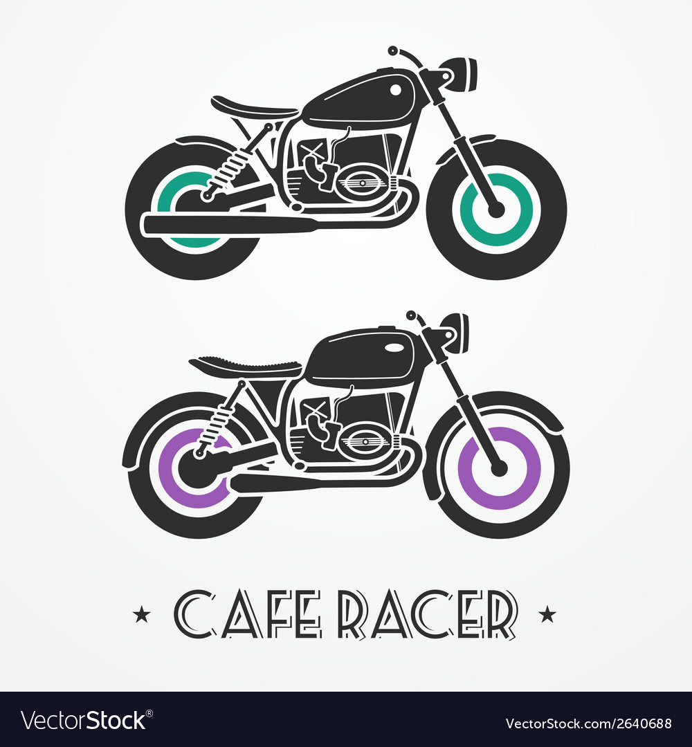 Two retro motorcycles vector | Price: 1 Credit (USD $1)