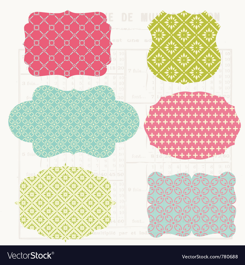 Vintage colorful design vector | Price: 1 Credit (USD $1)