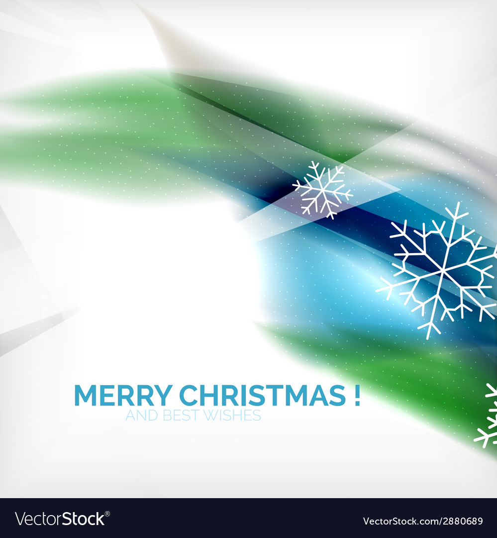 Blue christmas blurred waves and snowflakes vector   Price: 1 Credit (USD $1)