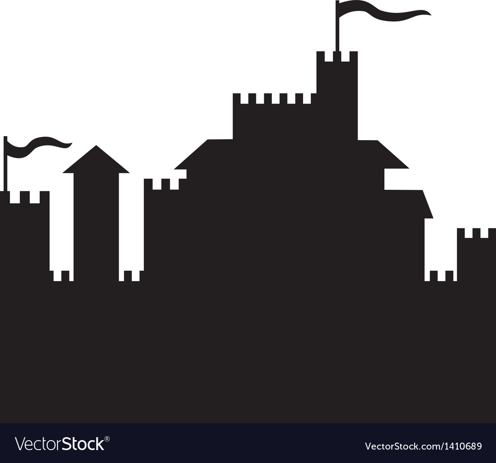 Castle silhouette vector | Price: 1 Credit (USD $1)