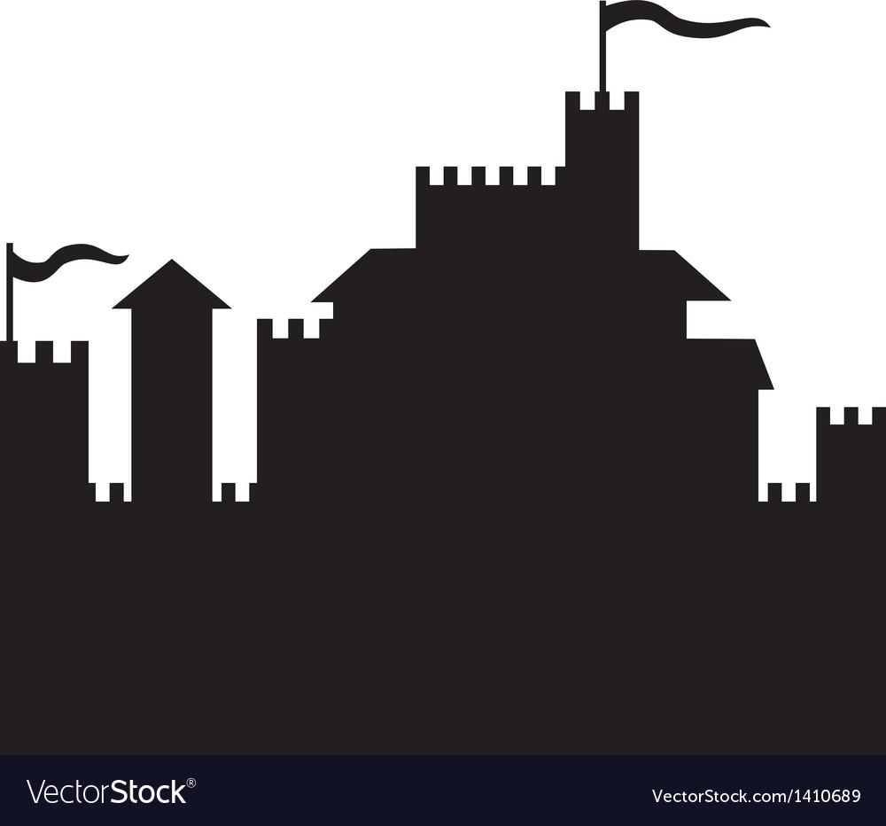 Castle silhouette vector | Price: 1 Credit (USD $1)