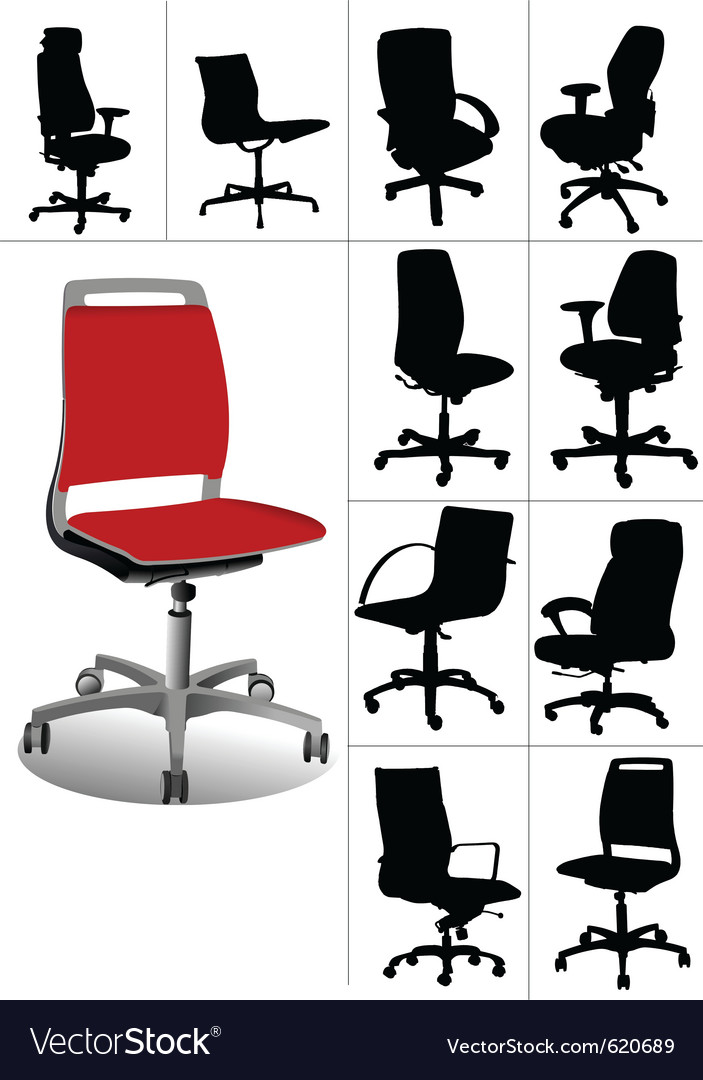 Desk chair vector | Price: 1 Credit (USD $1)