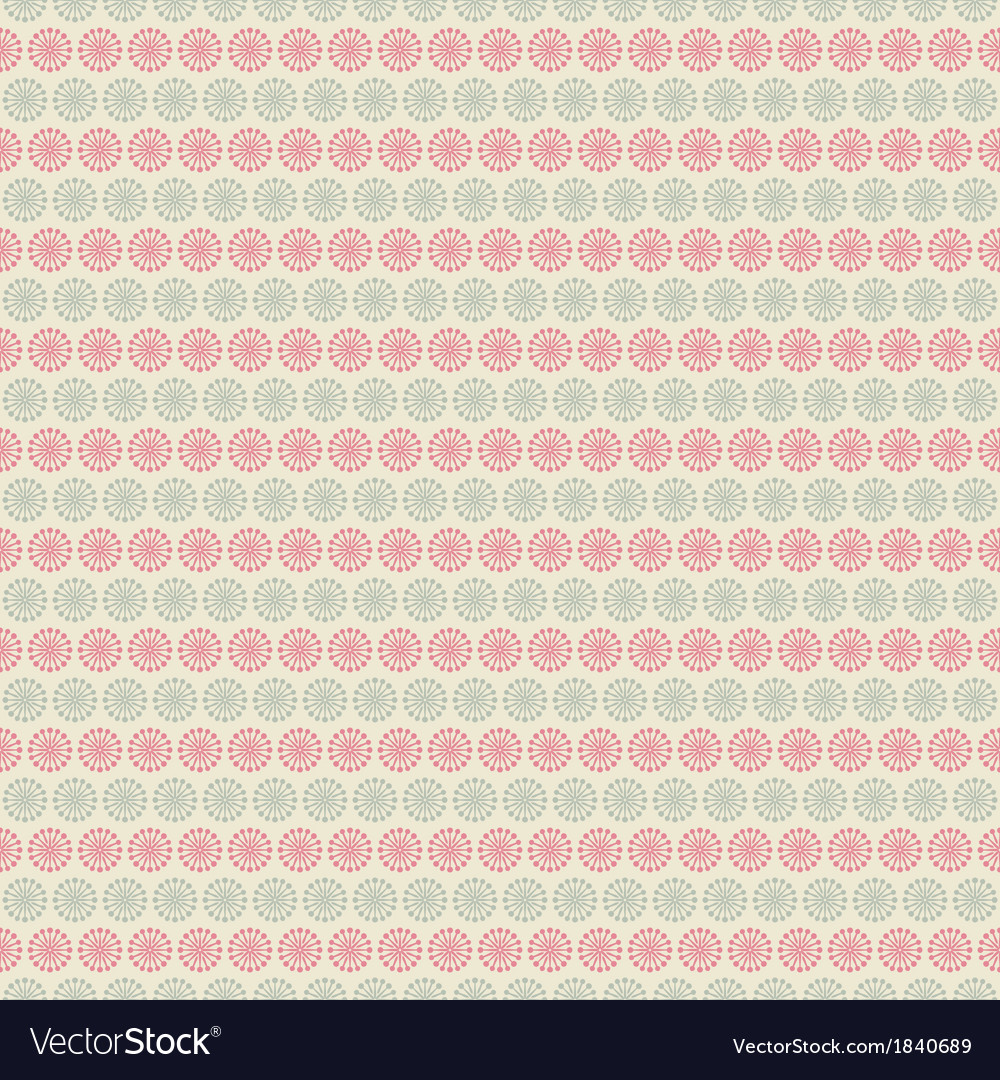 Floral seamless pattern tiling vector | Price: 1 Credit (USD $1)