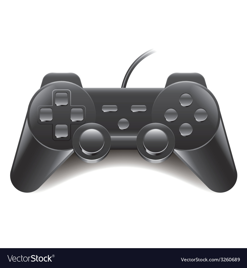 Game controller isolated vector | Price: 1 Credit (USD $1)