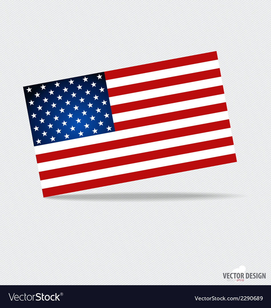 Happy independence day american flag design vector | Price: 1 Credit (USD $1)