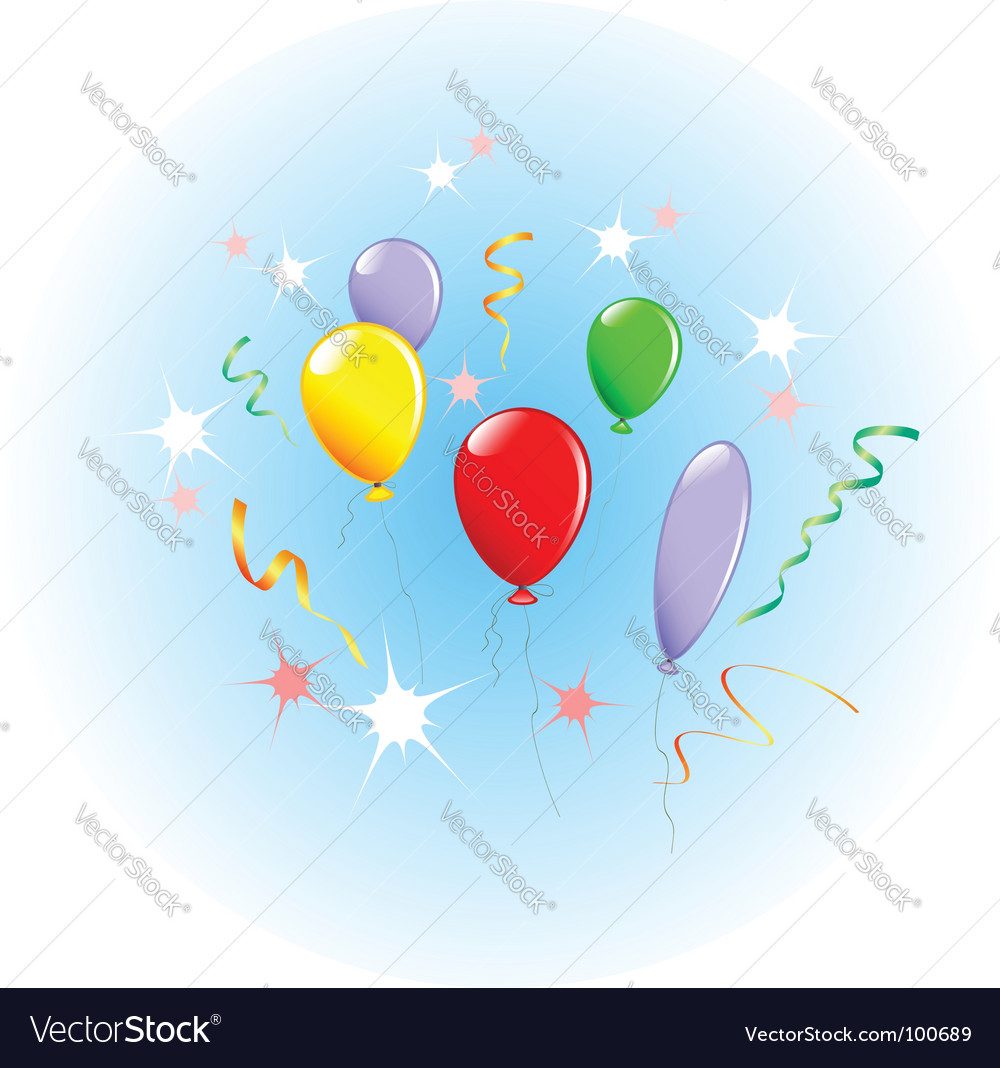Holiday balloons vector | Price: 1 Credit (USD $1)