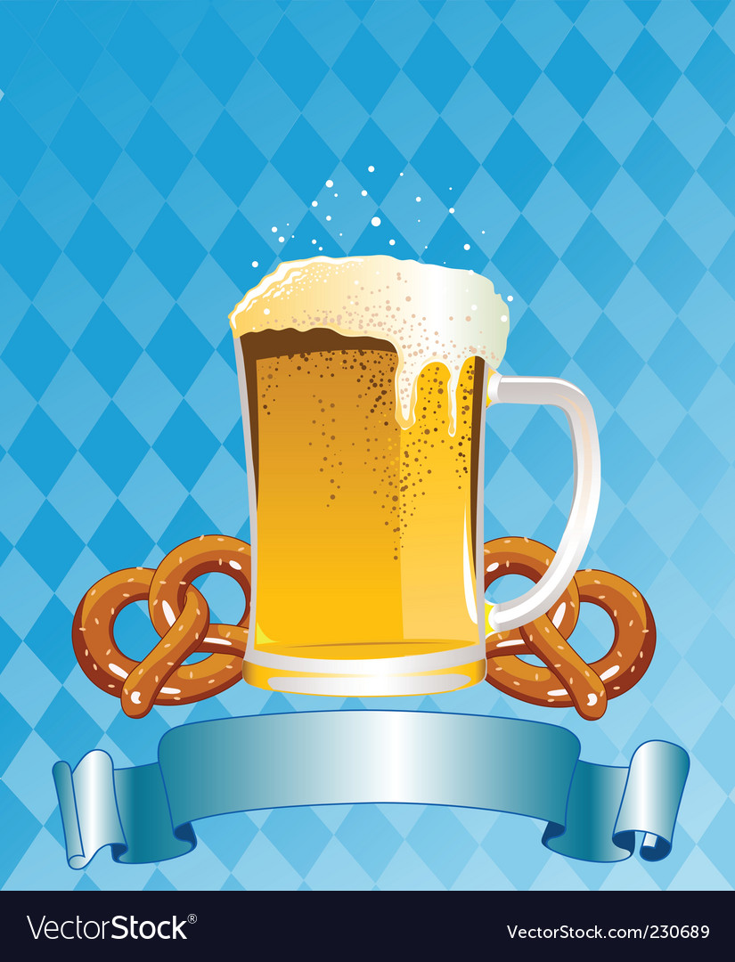 Oktoberfest celebration background vector | Price: 1 Credit (USD $1)